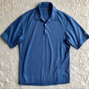 Men's Nike golf performance blue Nike polo shirt